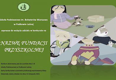 Konkurs na nazwę Fundacji przyszkolnej